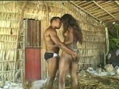 Hot and horny black beach banging