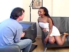 Perfect busty ebony fucked hard