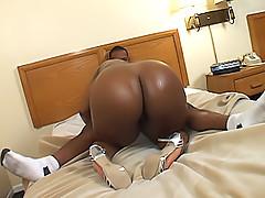 Horny fat black bitch gets fucked hard