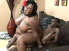 Enormous fat lady with big boobs satisfy black men