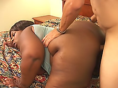 Black fatty's tight pussy gets drilled