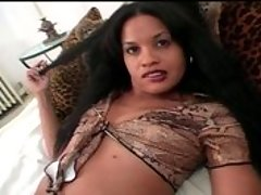 A black sex starved cutie has her pussy pummeled