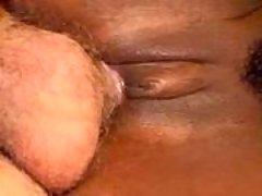 Ebony babe satisfy sexual action