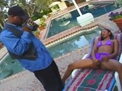 A pretty Indian girl spreads for a black prick