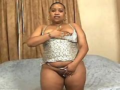 Ebony chubby honey fucking hard with dude