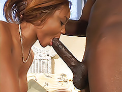 This ebony chick shows off her ass, and then puts it to work with some fine anal fucking